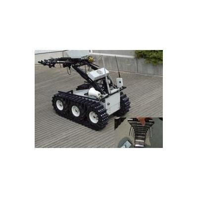 河南省第一套履带式机器人主体