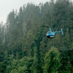 航空护林农林飞防直升机作业