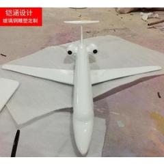 玻璃钢飞机 飞机模型摆件 玻璃钢玩具雕塑 仿真飞机雕塑定做