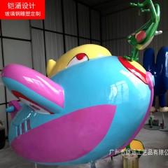 定做儿童游乐系列玻璃钢飞机 仿真飞机模型 树脂玩具飞机摆件