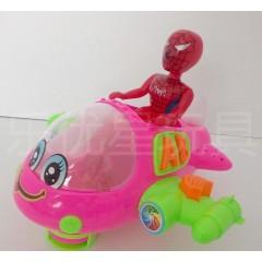 蜘蛛侠卡通飞机 儿童非遥控飞机 童趣玩具