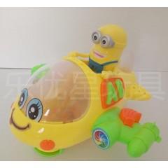 小黄人卡通飞机 儿童非遥控飞机 童趣玩具