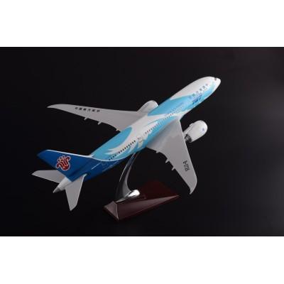 厂家直销空客B787波音南航彩绘43CM  树脂飞机模型摆件