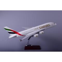 空客A380阿联酋航空树脂飞机模型45cm