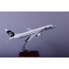 飞机模型制造厂家直销波音B737-800阿拉斯加航模30cm