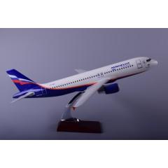 飞机模型厂家直销空客A320俄罗斯树脂飞机模型47cm