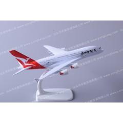 航空模型制造企业定制空客A380澳大利亚飞机模型20cm