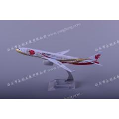 汕头永航厂家直A330国航紫金30CM 树脂飞机模型