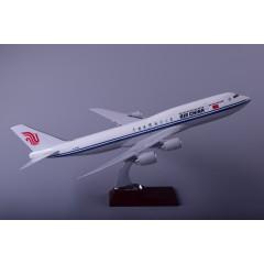 飞机模型厂家OEM定制波音B747国航树脂飞机模型47cm
