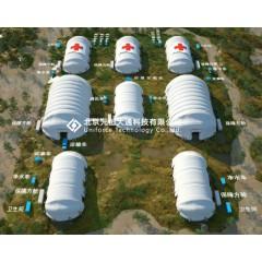 气承式拼装建筑应用于紧急求援