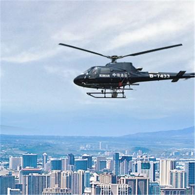 专业的直升机航拍
