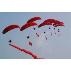 动力伞广告表演