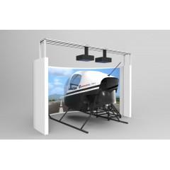 专业级直升机全景模拟训练舱-PR44-RC