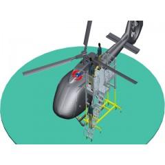 直升机装配机坞、工作平台、生产线,通用航空维修机坞